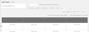 Плагин Table Maker для WordPress